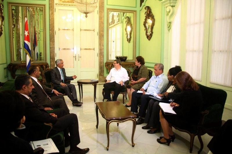 Recibió Bruno Rodríguez al ministro de Relaciones Exteriores de Qatar
