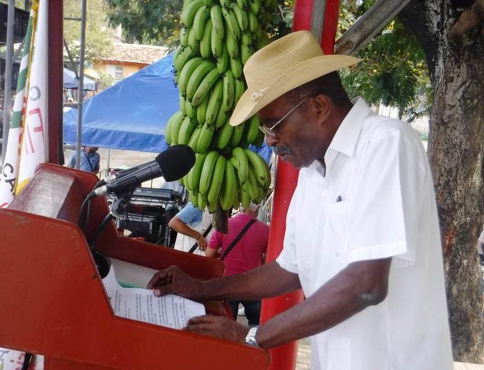 Presidente de la ANAP en Santiago de Cuba, Luis Vinent Perera
