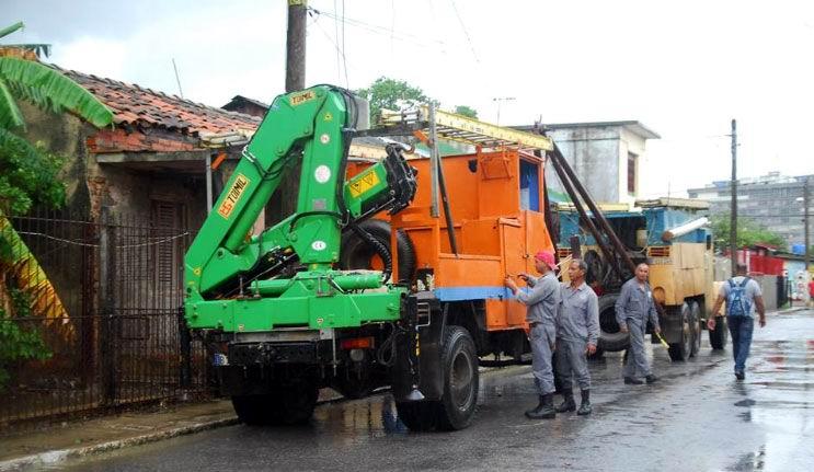 Linieros apoyan tareas de recuperación en Pinar del Río