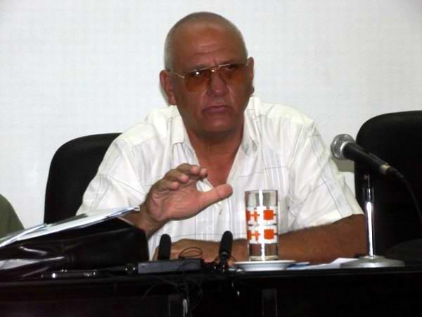 Jefe del Grupo Nacional de Evaluación, encabezado por Tomás Vázquez. Foto: Miozotis Fabelo Pinares