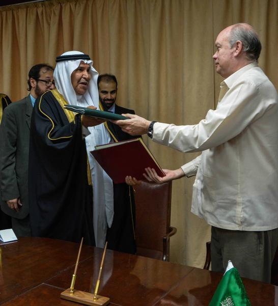 Firman Cuba y el Fondo Saudita para el Desarrollo otros dos acuerdos
