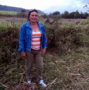 Mercedes Mart�nez Garc�a revisa los campos del Centro de Entom�fagos y Entomopat�genos, en Bah�a Honda. Foto: Cabrera Peinado.