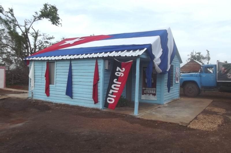 Nueva vivienda de Rigoberto vento Álvarez, en el mismo lugar donde el huracán irma derribó la antigua.