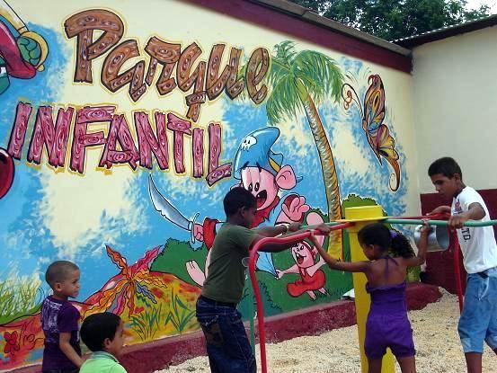 Parque infantil en Calabazas de Sagua. Foto: Aroldo García