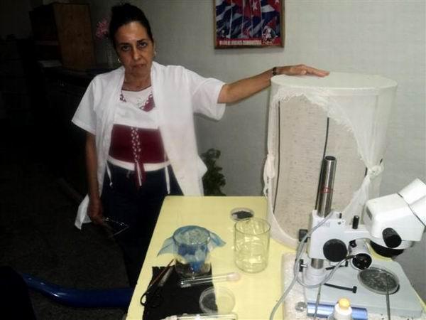 Técnica agrícola, Margarita González. Foto: Cabrera Peinado.