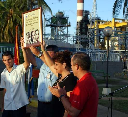 La Empresa Termoeléctrica de Cienfuegos, insigne del país ratificó, por 32 años, la Bandera de Vanguardia Nacional del Sindicato de los Trabajadores Químico Minero Energéticos