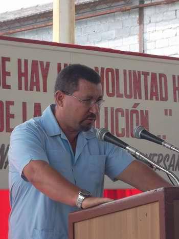 El Vicepresidente del Instituto Nacional de Recursos Hidráulicos, Antonio Rodríguez Rodríguez. Foto Juan Manuel Olivares