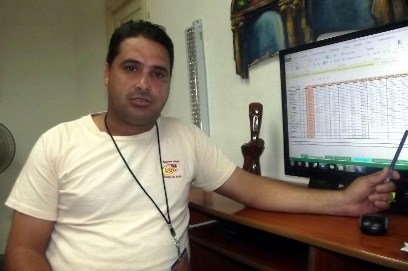 Director de la Empresa Avícola Camagüey, Yoandry Abad Escobar.