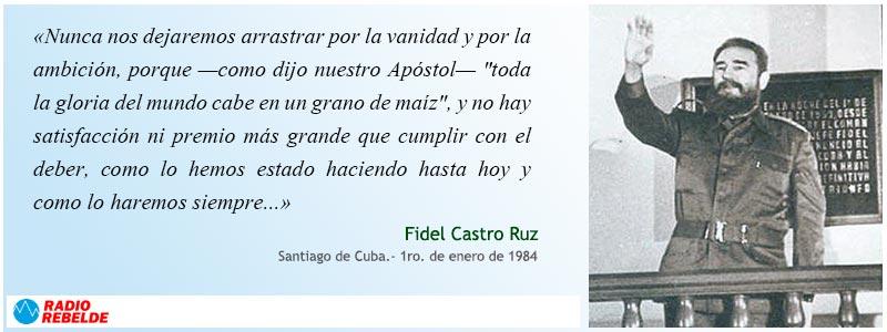 Fidel Castro. 1 de enero de 1984