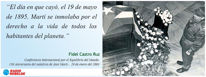 Frase de Fidel sobre José Martí