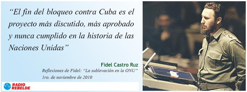 Frases de Fidel Castro Ruz. 1 de noviembre de 2010. El fin del bloqueo