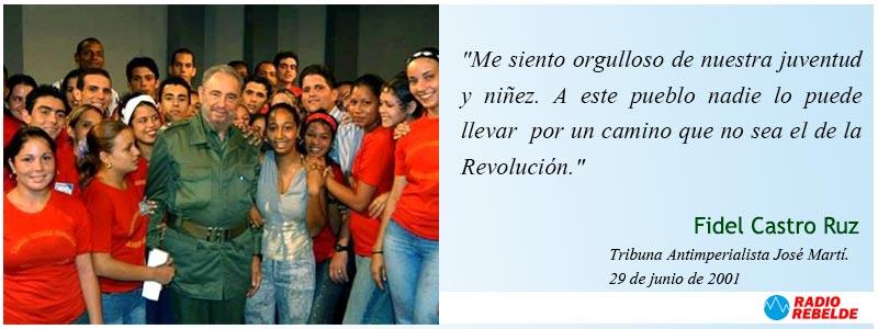 Frases de Fidel Castro Ruz. 21 de junio de 2001.