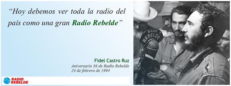 Aniversario 62 de la fundación de Radio Rebelde