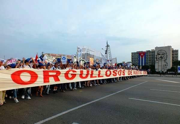 Preparativos para el Primero de Mayo en la capital cubana