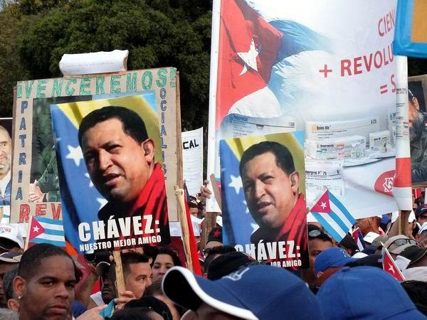 La Central de Trabajadores de Cuba dedicó este simbólico día al Comandante Hugo Chávez Frías. Foto: Abel Rojas Barallobre.
