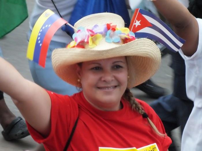 Solidaridad con Venezuela este Primero de Mayo. Foto: Abel Rojas Barallobre