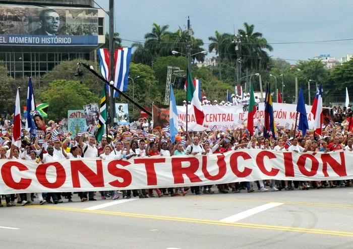 El proletariado cubano reafirmó su dignidad, fervor revolucionario y su unidad. Foto: Abel Rojas Barallobre