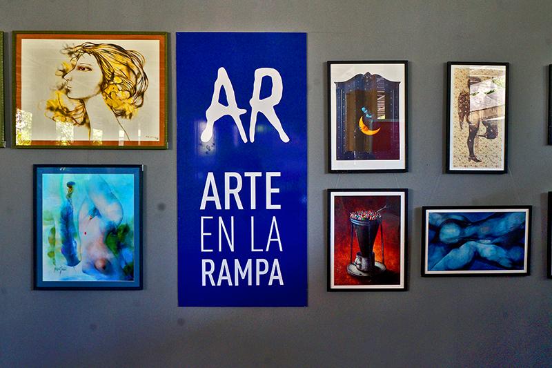 Arte en la Rampa, una opción más para la estival temporada. Foto: Sergei Montalvo Aróstegui