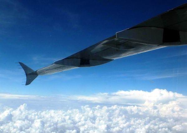 Junto a otros importantes parámetros, el diseño las alas puede hacer que el avión alcance grandes altitudes en su vuelo. Foto Abel Rojas Barallobre