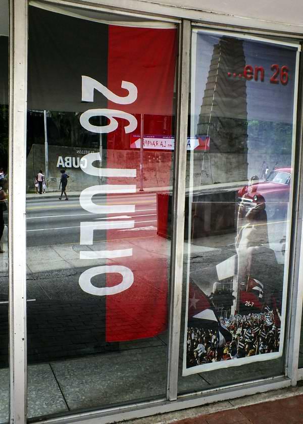 Bandera del 26 de Julio en Cuba. Foto Abel Rojas