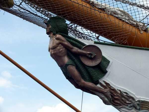 El buque escuela Cuauhtémoc, de la Armada mexicana, llegó este jueves a Cuba con un mensaje de paz y buena voluntad. Foto Abel Rojas