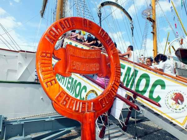 El buque escuela Cuauhtémoc, de la Armada mexicana, llegó este jueves a Cuba. Foto Abel Rojas