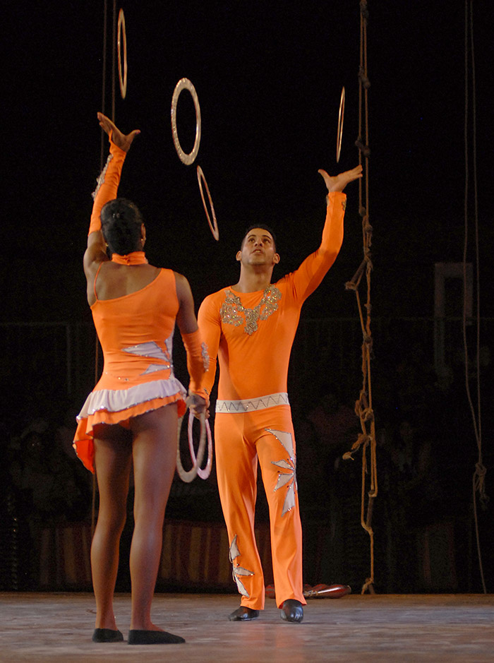 The National Circus of Cuba in a celebration day.