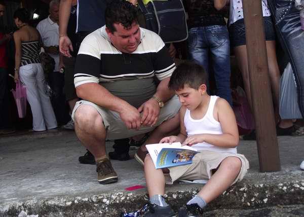 : Los más pequeños tuvieron un amplio espacio en la Feria del Libro. Foto Abel Rojas