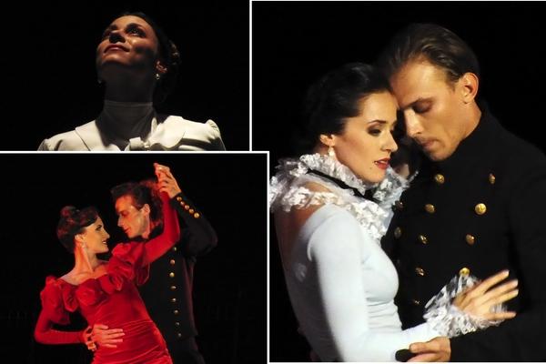 Anna Karenina, espectáculo coreográfico basado en la novela de León Tolstói, llegó al festival por el Teatro Estatal Académico Evguéni Vajtángov. Fotos Abel Rojas