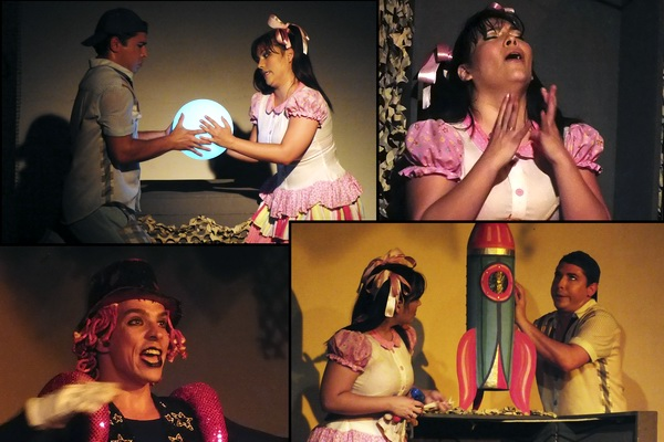Protagonizada por Artefactus Cultural Project (Cuba-Estados Unidos), El caso de la luna es una obra infantil que obliga a sus espectadores a utilizar la imaginación como fuente principal de la trama. Fotos Abel Rojas