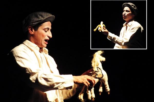 Con gran profesionalidad y talento, el director y actor colombiano Giovanny Largo Peón logra cautivar al público con esta propuesta escénica, la cual refleja de manera sutil el desplazamiento del hombre rural de la nación suramericana. Fotos Abel Rojas