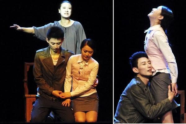 El público quedó fascinado ante las magistrales actuaciones de los protagonistas del drama moderno chino, considerado una obra clásica del gran dramaturgo Cao Yu. Fotos Abel Rojas