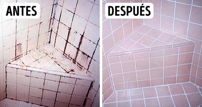 Limpieza de azulejos del baño
