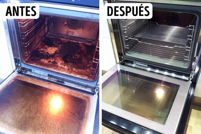 Limpieza del horno. Foto: Genial Gurú
