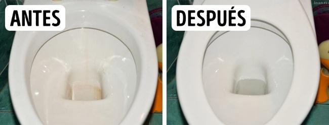 Limpieza de muebles sanitarios