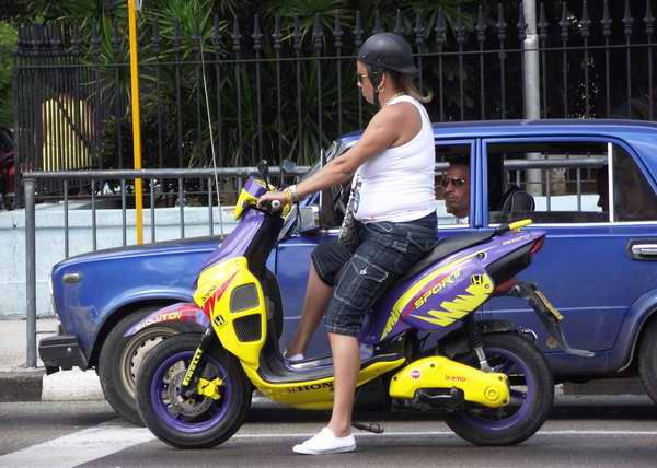 Moto Scooter marca Honda. Foto Abel Rojas