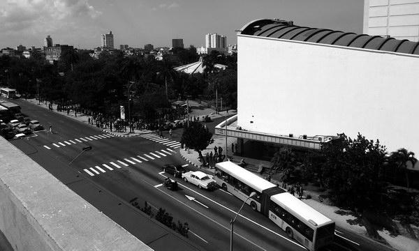 La rampa de los coches, del grupo, de las esquinas. Foto Abel Rojas Barallobre