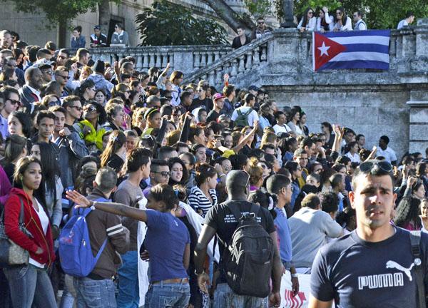 El principal objetivo de la UJC es asegurar la unidad de los jóvenes cubanos, sean de la membresía o no; y movilizarlos en torno a la Revolución y contribuir a su educación. Foto: Abel Rojas Barallobre