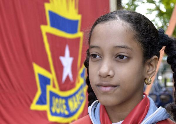 pionera-bandera-opjm-01-foto-abel-rojas-barallobre: Dentro de la OPJM los que cursan de cuarto a sexto grado son primer nivel