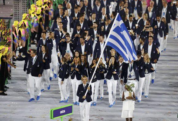 Grecia encabezó como siempre el desfile de las delegaciones. Foto: Reuters