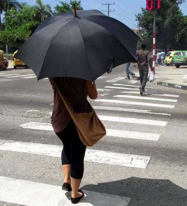 Sombrillas en La Habana. Foto Abel Rojas