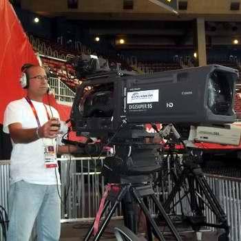 Camarógrafo holguinero Frank Batista en Londres 2012