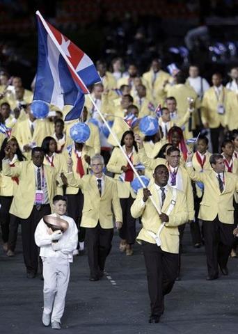 Delegación cubana desfila en inauguración de los Juegos Olímpicos Londres 2012