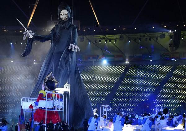 Ceremonia de inauguración de los XXX Juegos Olímpicos Londres 2012. Estadio Olímpico. Foto: AFP