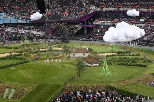 Ceremonia de inauguración de los XXX Juegos Olímpicos Londres 2012. Estadio Olímpico. Foto: La Vanguardia