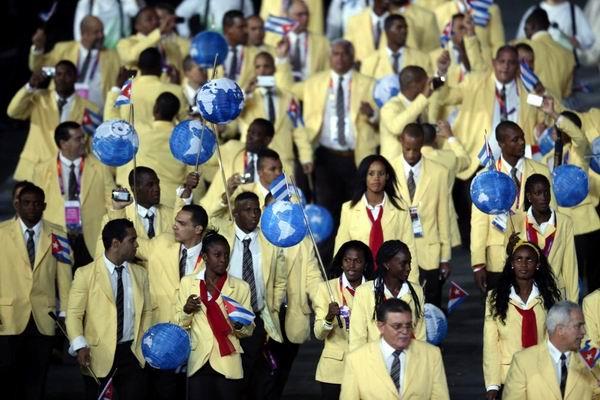 Delegación de Cuba a Londres 2012. Ceremonia de inauguración de los XXX Juegos Olímpicos Londres 2012. Estadio Olímpico. Foto: The New York Times