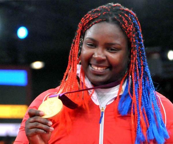 La judoca cubana Idalys Ortíz alcanzó la gloria olímpica con su medalla de oro en más de 78 kilogramos de los XXX Juegos Olímpicos de Londres 2012, en el Centro de Exposiciones ExCel, Inglaterra, el 3 de agosto de 2012. Foto: Marcelino Vázquez Hernández