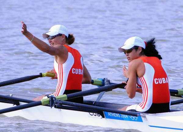 repechage del doble scull peso ligero las cubanas Yaima Velázquez y Yoslaine Domínguez. Foto Juventud Rebelde