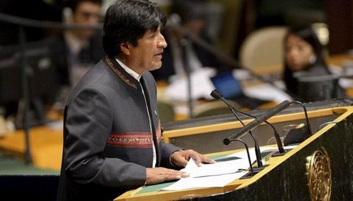 Exige Evo Morales en la ONU fin del bloqueo a Cuba