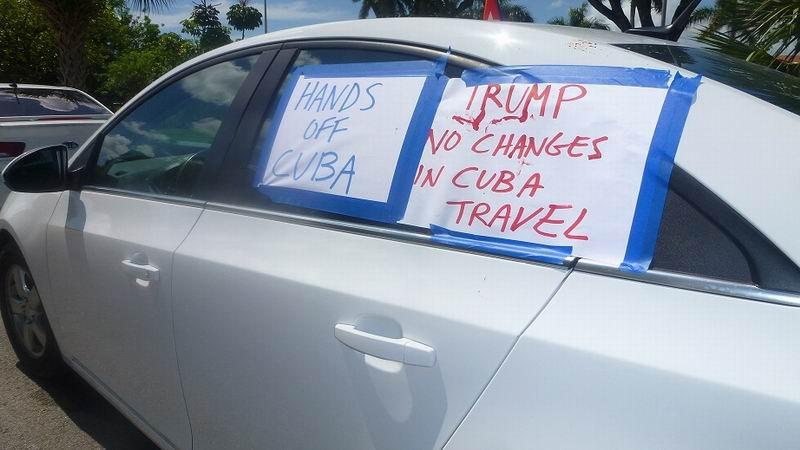En las calles de Miami, reclamo del cese del bloqueo a Cuba (+Audio)